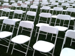 White chair abstraction