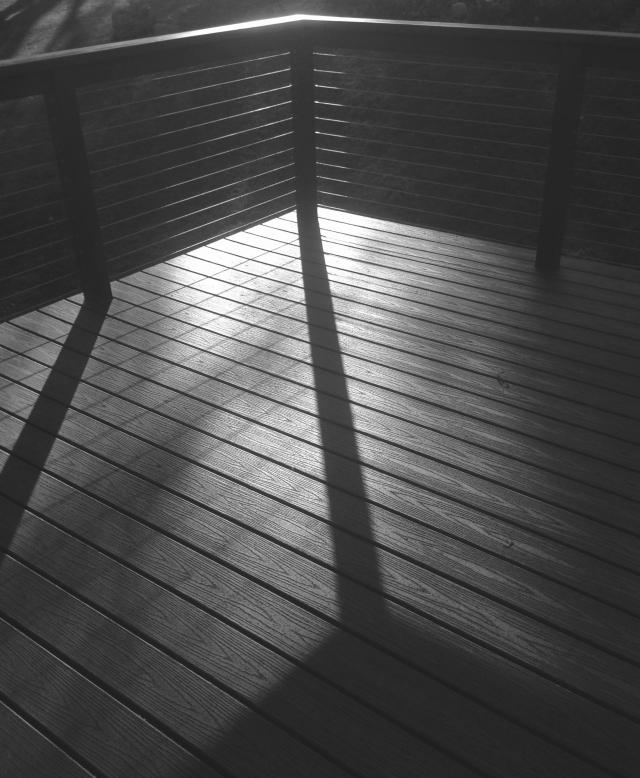 Long shadows, patio deck
