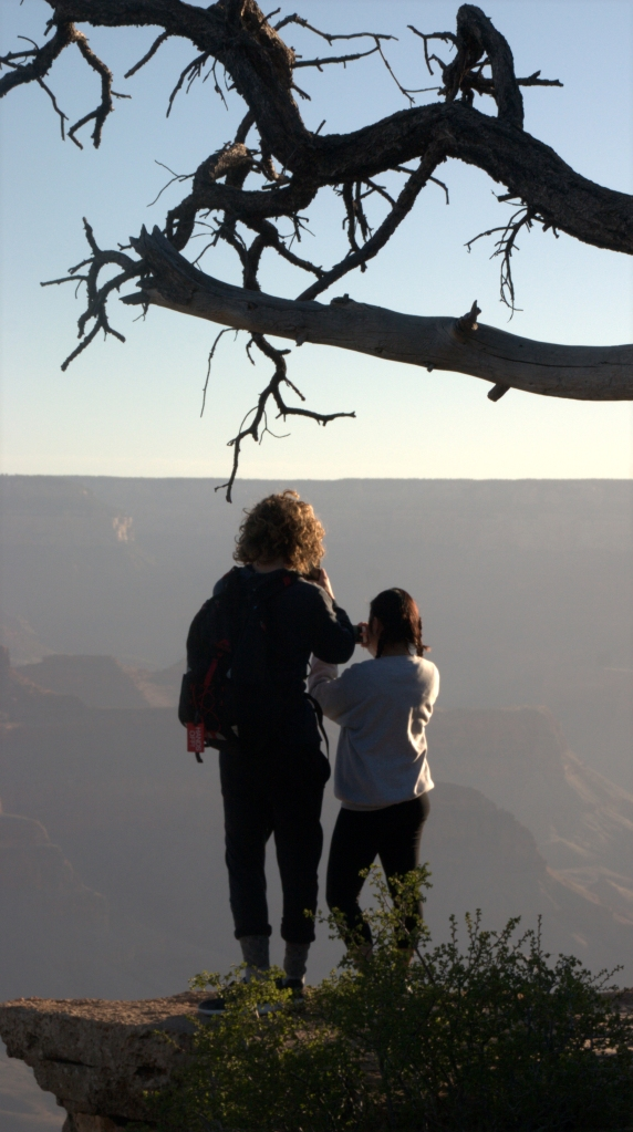 A couple enjoying the view, Grand Canyon 3.17.16