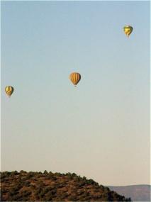 Hot air Balloons over Sedona, 3.18