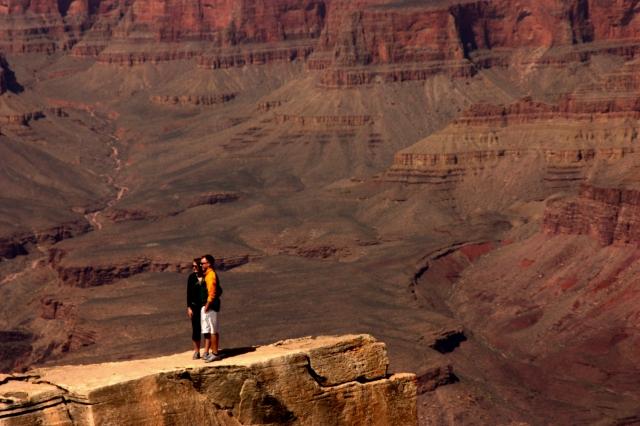 Ledge couple, Grand Canyon 3-16-16