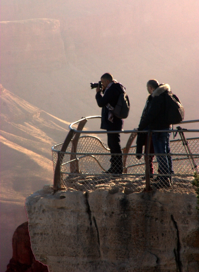 Photographers on the South rim, Grand Canyon 3.17.16