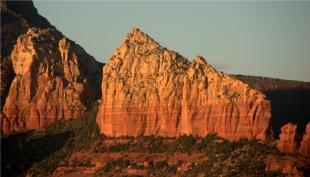Sedona formations near sunset 003 3.17.16