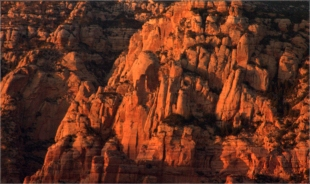 Sedona formations near sunset 006 3.17.16