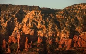 Sedona formations near sunset 3.17.16