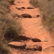 The rock segments on Fay Canyon trail, Fay Canyon Sedona, AZ 3.18.16