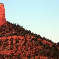 Up the Chimney, Hot air balloon and Chimney Rock, Sedona, AZ 3.19.16