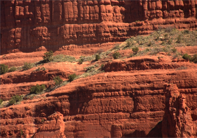 Textures of Courthouse Butte, Sedona 3.19.16