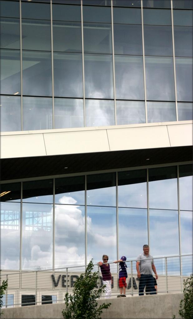 Visitors near Verizon gate US Bank Stadium